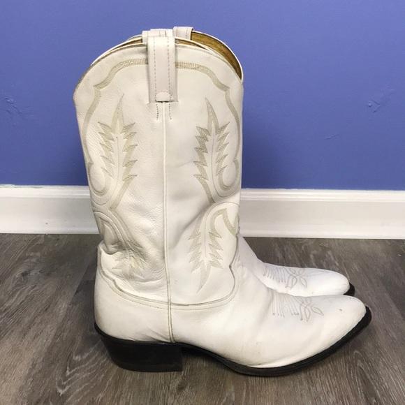 4f21887a74b Tony Lama Cowboy Boots Men's sz 13 D White
